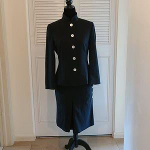 Les Copains 2pc Black Skirt Suit